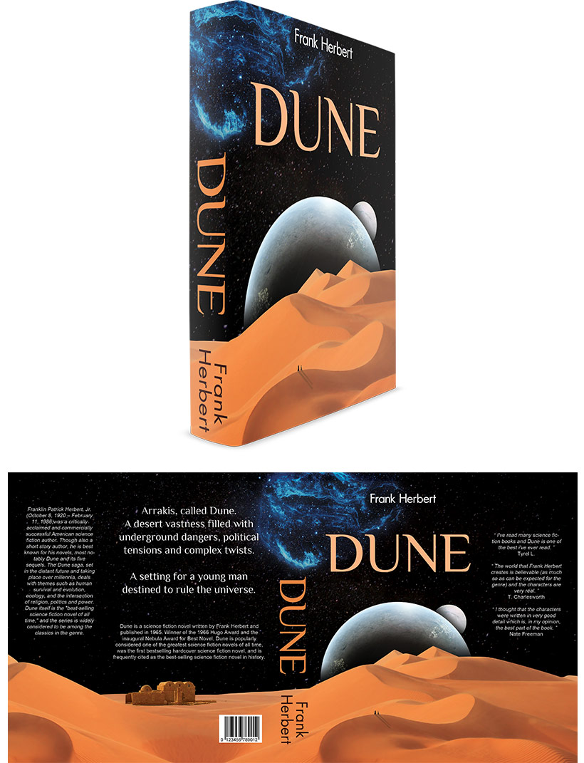 Dune by Frank Herbert - Book Cover Design