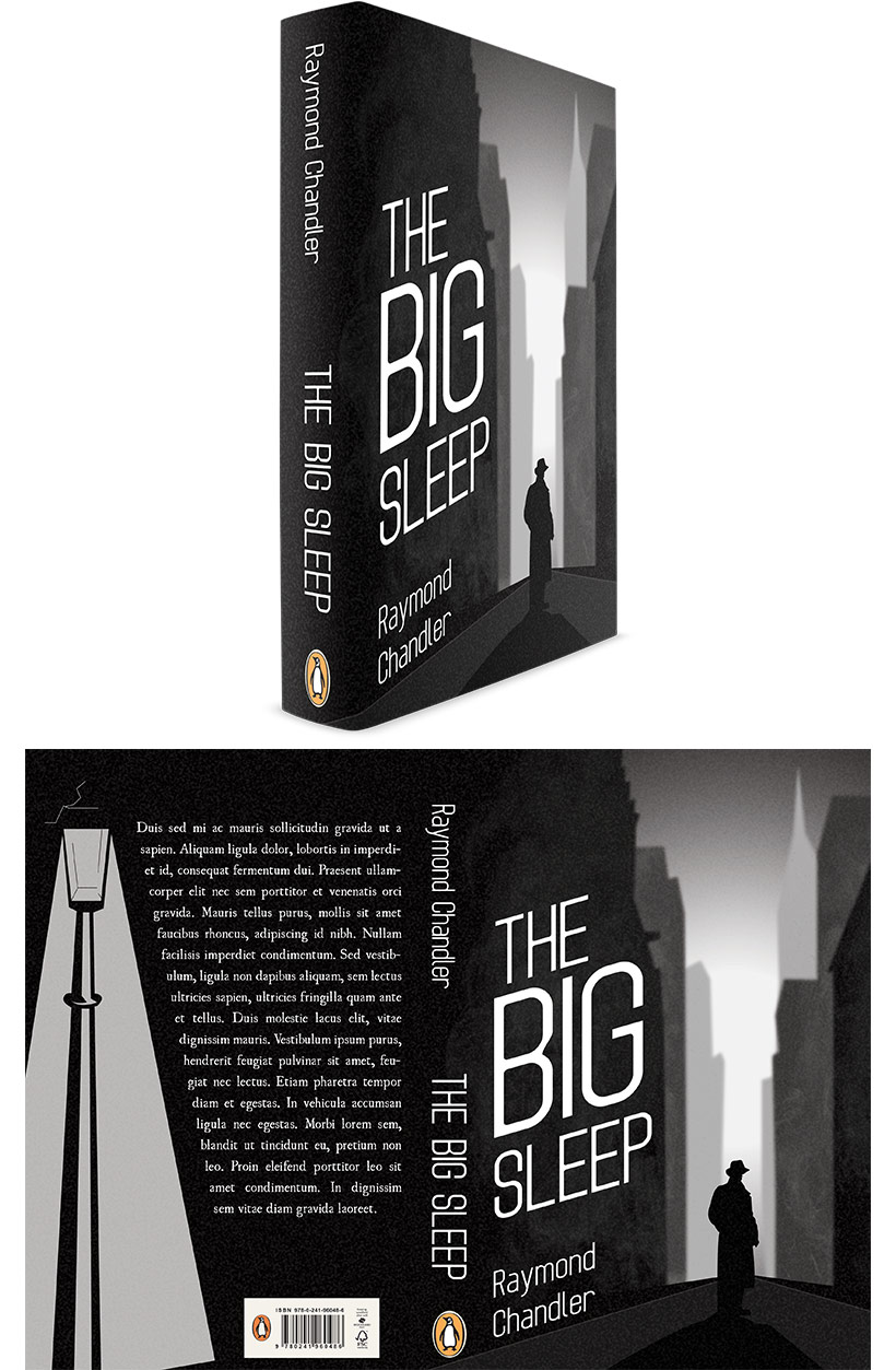 The Big Sleep by Raymon Chandler - Book Cover Design