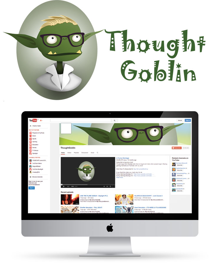 Thought Goblin - Identity and Youtube Channel design